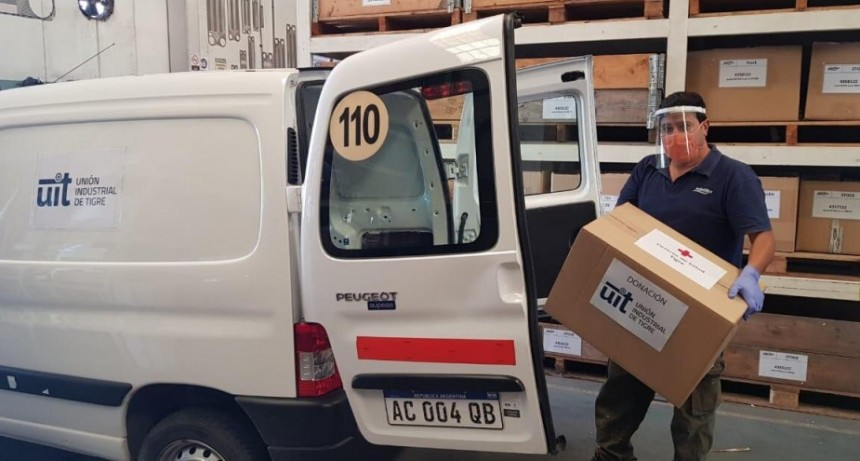 La Unión Industrial de Tigre donó elementos de protección personal al sistema de salud local