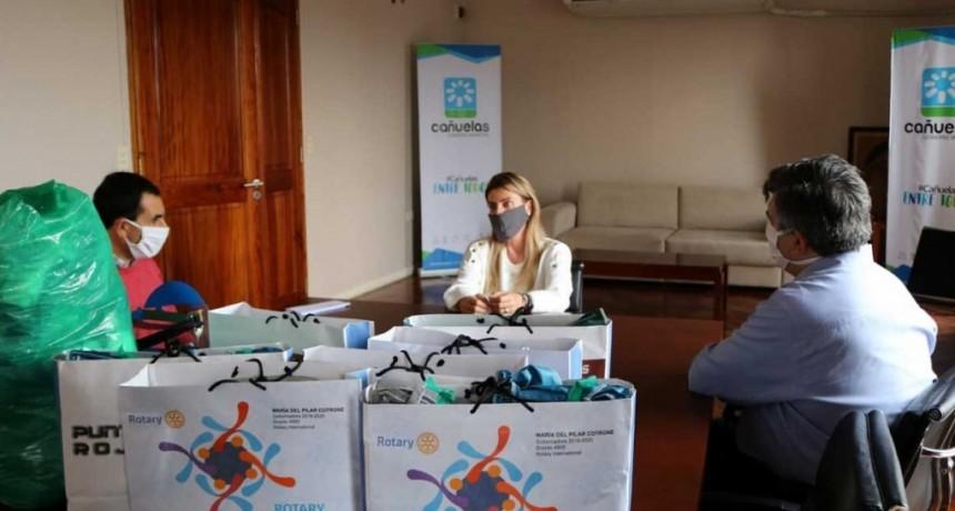 Cañuelas: La intendenta recibió importante donación de equipos de protección para el Hospital