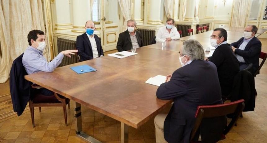 """Brandsen: El intendente Capelletti se reunió con el Ministro """"Wado"""" de Pedro"""