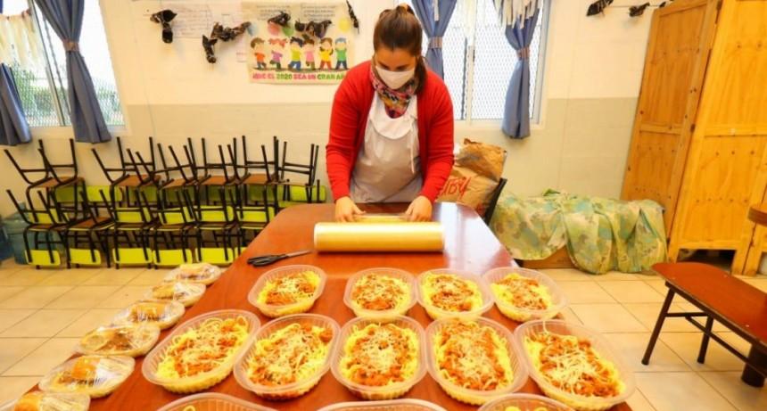 Pergamino: Las cocinas de los Centros Comunitarios siguen trabajando a todo ritmo