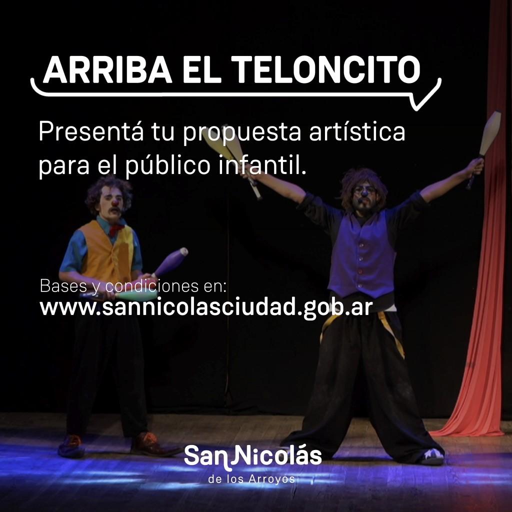 San Nicolás: El Municipio convoca a artistas para producciones infantiles