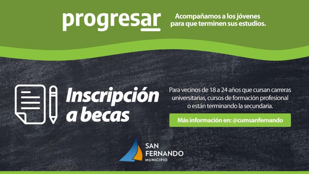 San Fernando: Abrió la preinscripción a las Becas Progresar en el Centro Universitario Municipal
