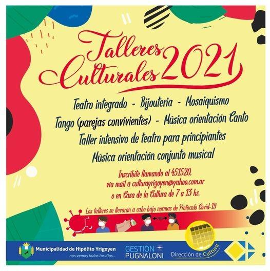 H. Yrigoyen: Preinscripción a talleres culturales