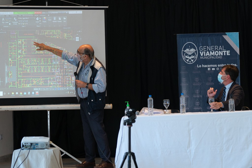 """Gral. Viamonte: Franco presentó el proyecto del """"Nuevo Hospital"""""""
