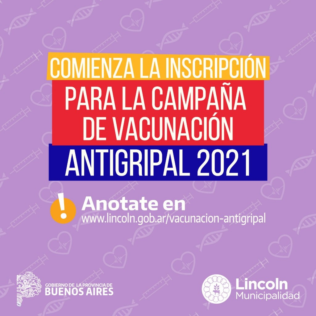 Lincoln: Lanzan inscripción para la campaña de vacunación antigripal 2021