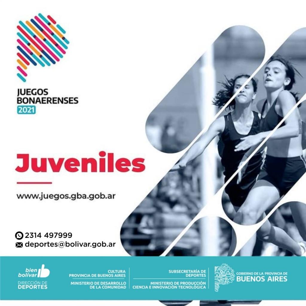 Bolívar: Se encuentra abierta la inscripción a los Juegos Bonaerenses 2021