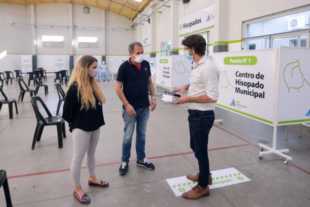 San Fernando: Juan Andreotti presentó un nuevo Centro de Hisopado Municipal en el Polideportivo Nº6