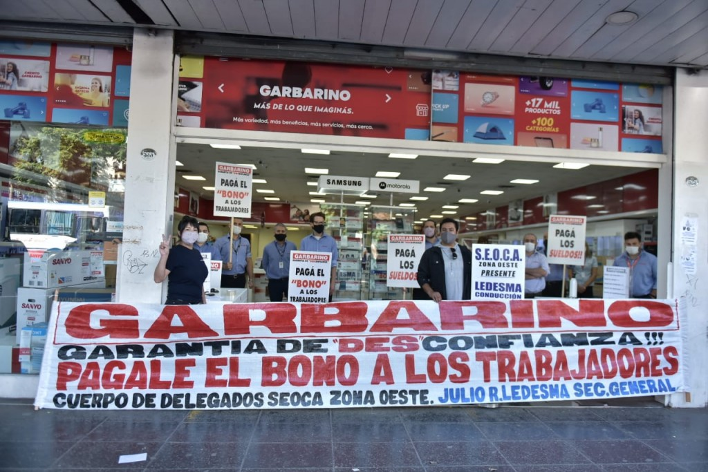 """Claudio Ledesma: """"Los trabajadores de Garbarino llegamos al día 22 y recién cobramos el 50% de nuestros salarios"""""""