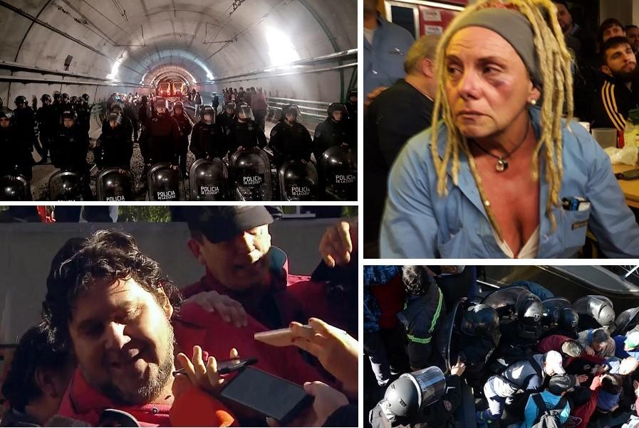 Subtes: Violenta represión policial y detención de 16 metrodelegados
