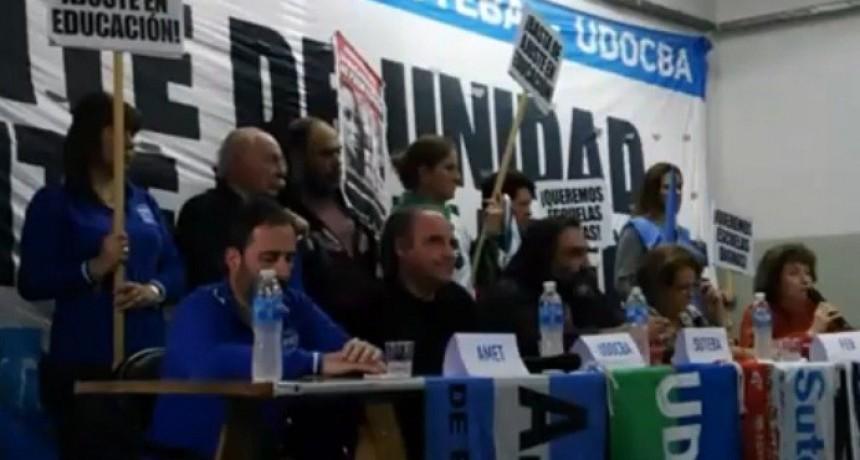 Moreno: El Frente de Unidad Docente anunció un Paro nacional para el 22 y 23