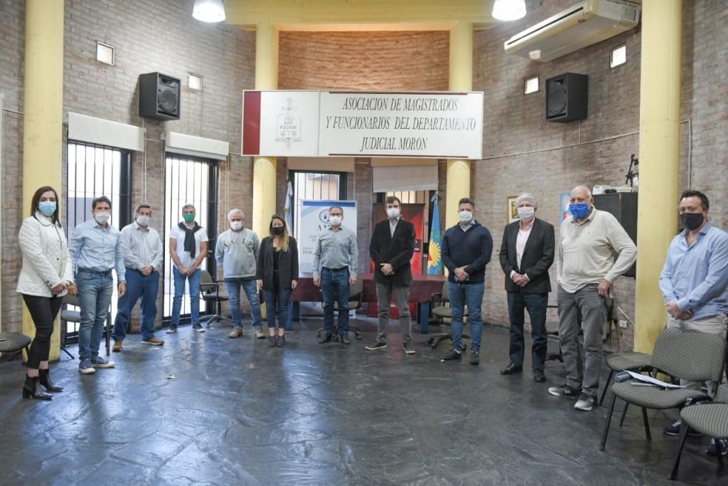 Los intendentes se reunieron con la Asociación de Magistrados de Morón por el cuidado y la seguridad en los distritos