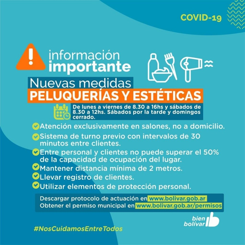 Bolívar: Se habilitaron nuevos rubros y actividades