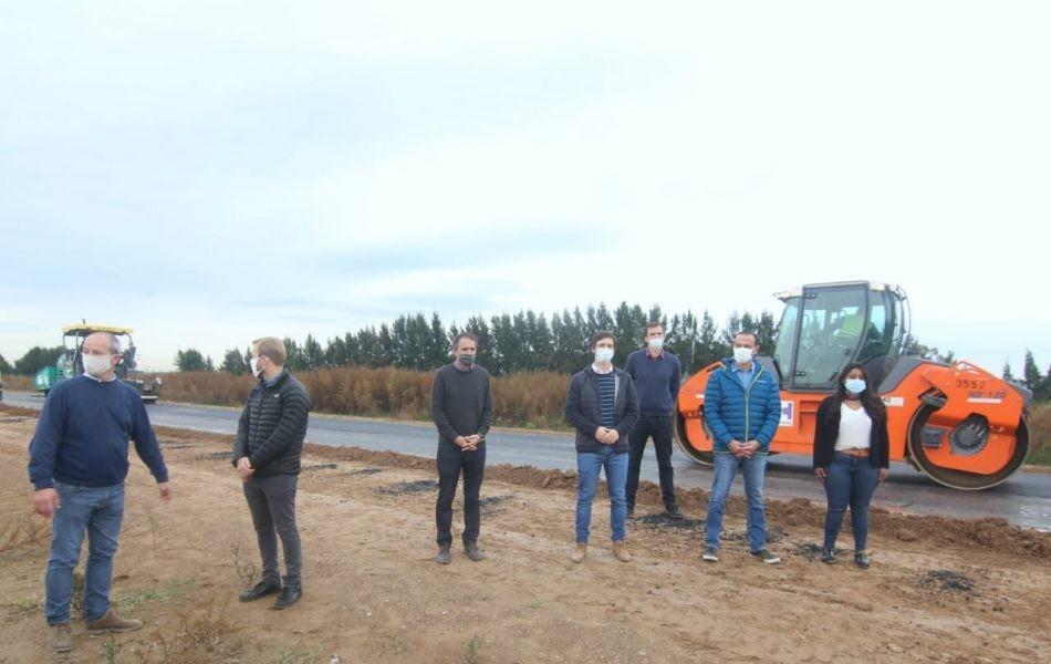 San Vicente: Mantegazza y el Ministro Katopodis recorrieron las obras de reactivación de la Autopista Pte. Perón