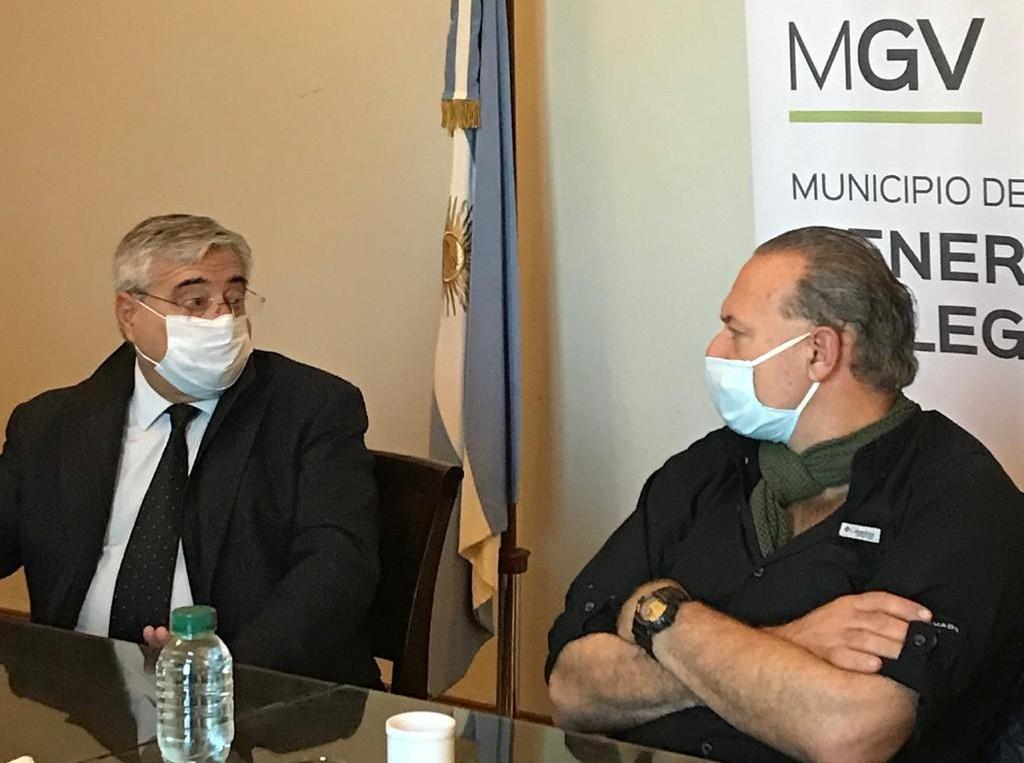 """El ministro Berni dijo estar """"orgulloso de ver una localidad tan bien preparada"""", en su visita a Gral. Villegas"""