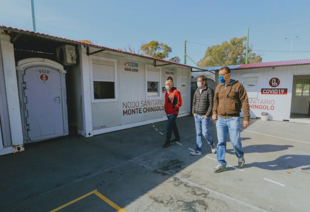 Lanús: Grindetti visitó el Centro Comunitario del Club Villegas y el Nodo Sanitario de Chingolo