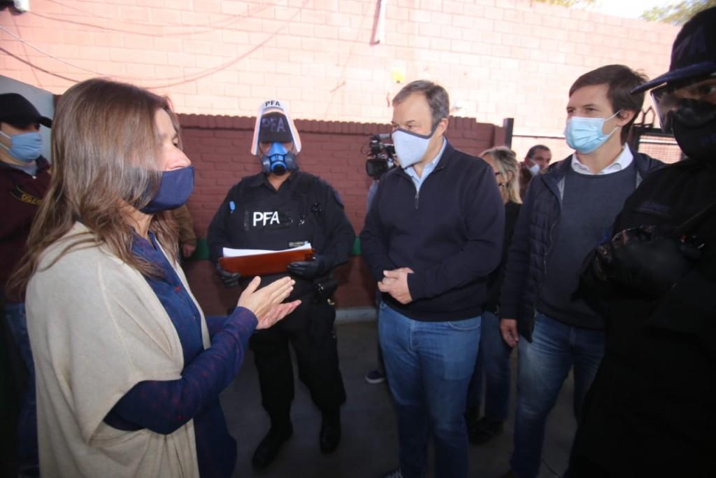 Mantegazza acompañó a la ministra de seguridad Sabina Frederic en los controles en estaciones ferroviarias