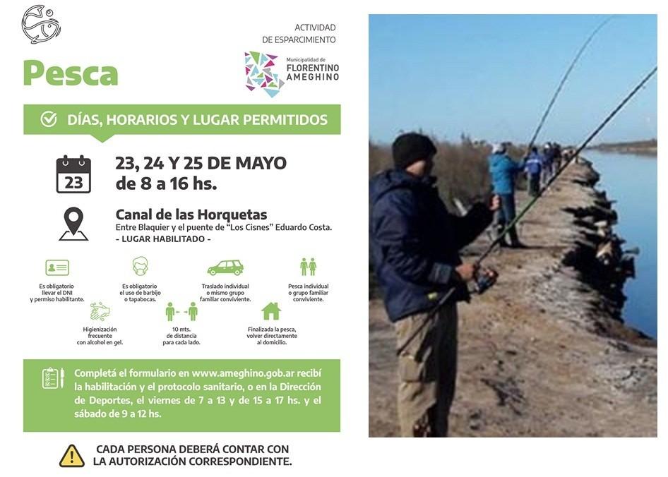 F. Ameghino: Habilitan la Pesca en el Canal de las Horquetas durante este fin de semana