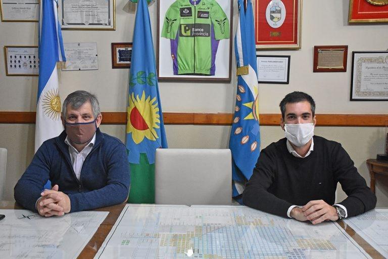 Chivilcoy: El intendente Britos recibió a Facundo Benegas, integrante del directorio de la CNRT