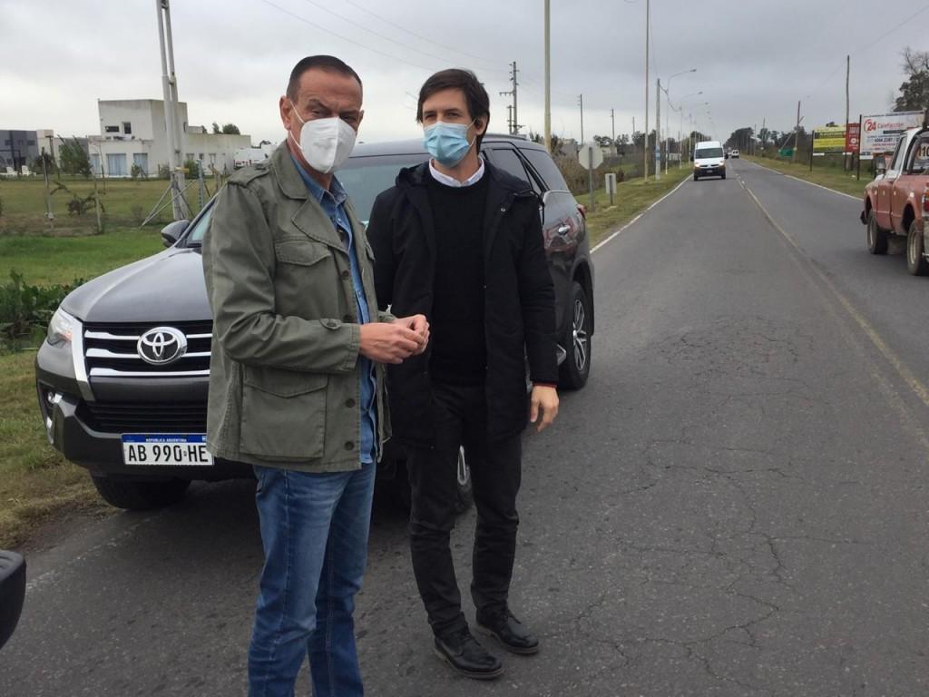 Alejandro Korn: Mantegazza se reunió con Gustavo Arrieta de vialidad nacional