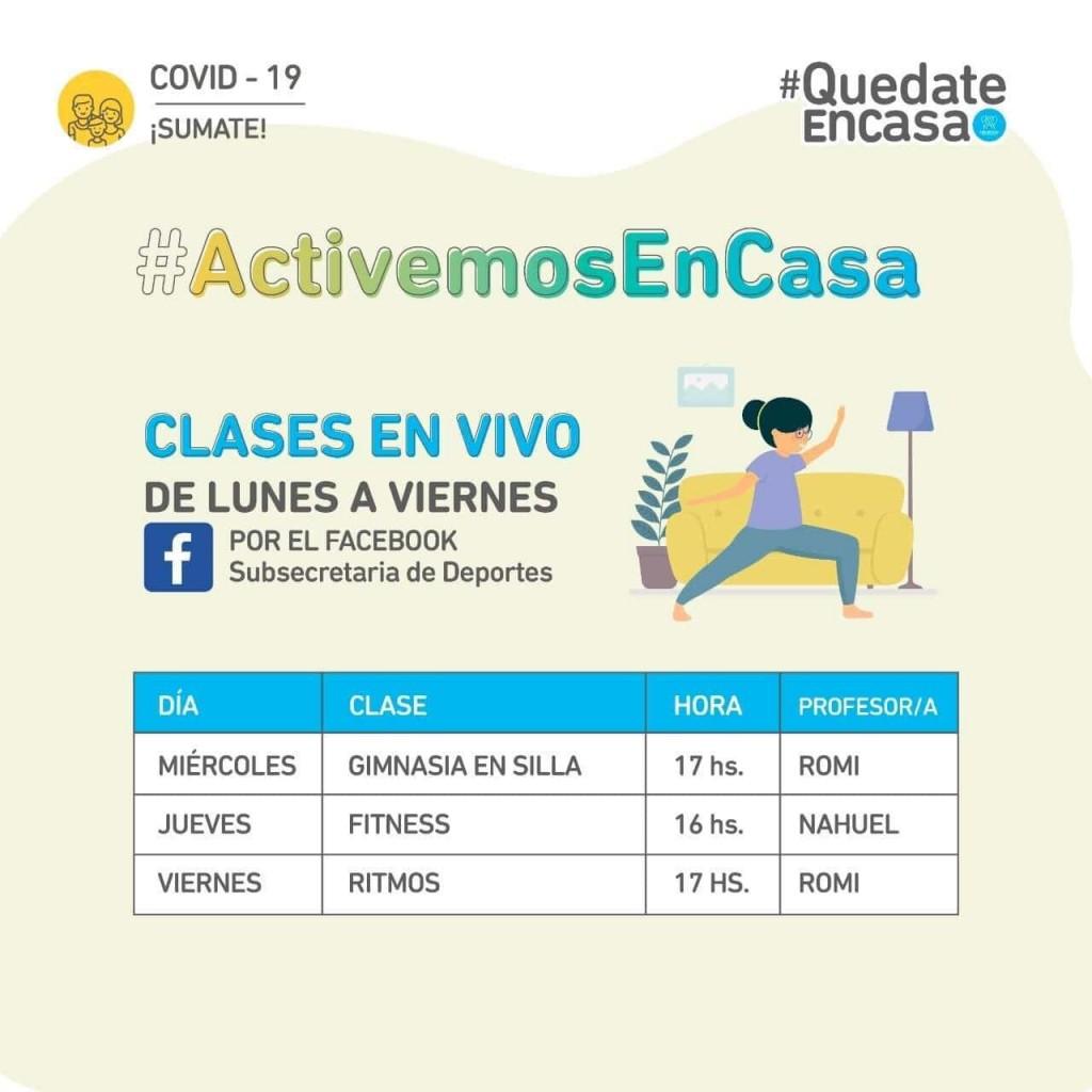 San Miguel: El municipio sigue ofreciendo clases deportivas y culturales de forma virtual