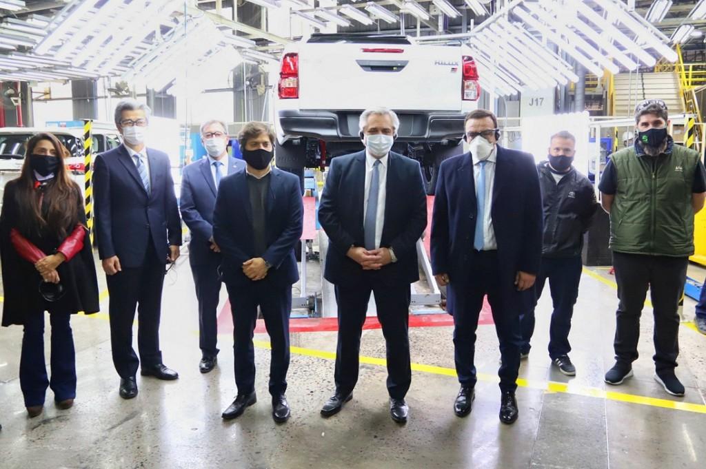 Zárate: Cáffaro acompañó al presidente y al gobernador Kicillof, en la reapertura de la planta Toyota