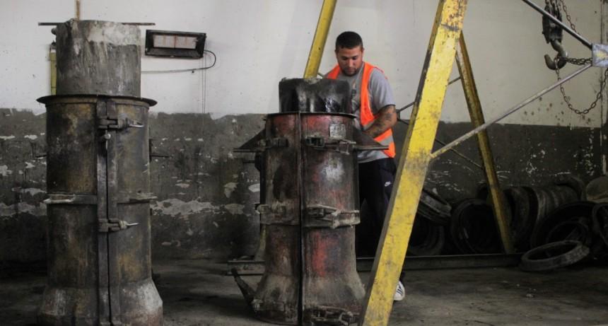 Luján: Recuperación de la fábrica municipal de caños pluviales