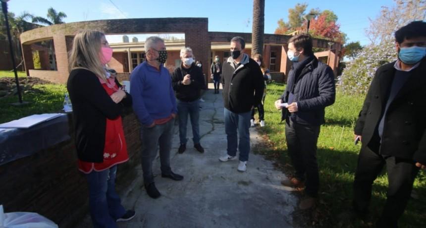 San Vicente: Mantegazza recorrió obras de refacción en la Secundaria 4