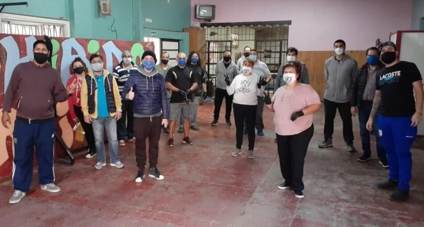 San Martín: Clubes de barrio solidarios, cocinan para miles de vecinos