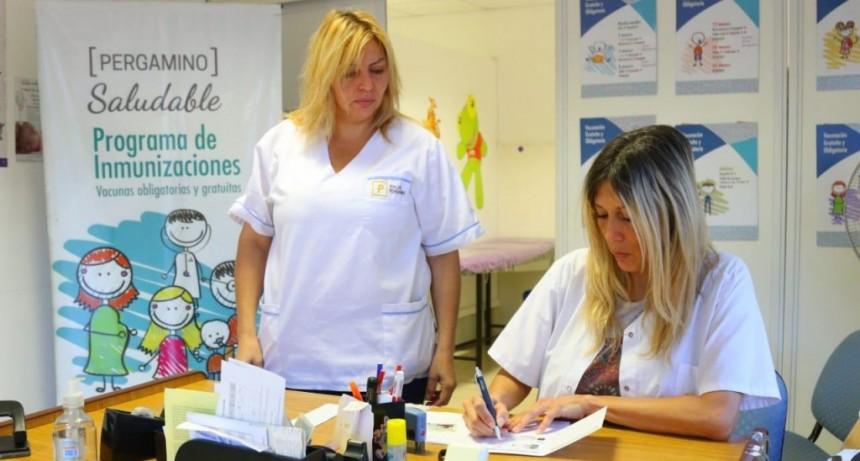 Gran cobertura de vacunación antigripal en Pergamino y los pueblos