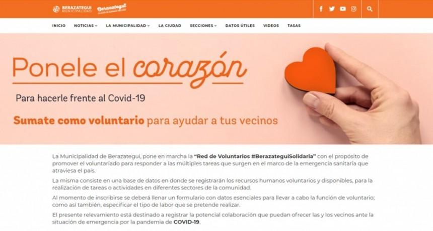 Berazategui: Lanzan la Red de Voluntarios Solidarios