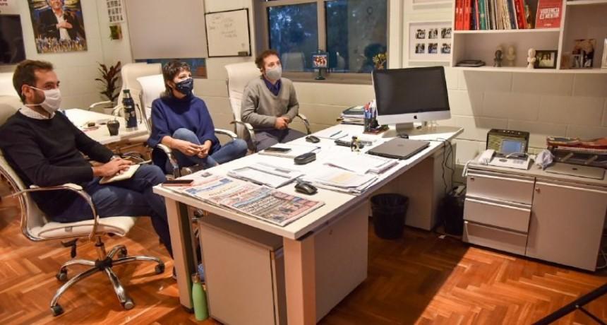 Quilmes: Mayra Mendoza realizó videoconferencia con industriales