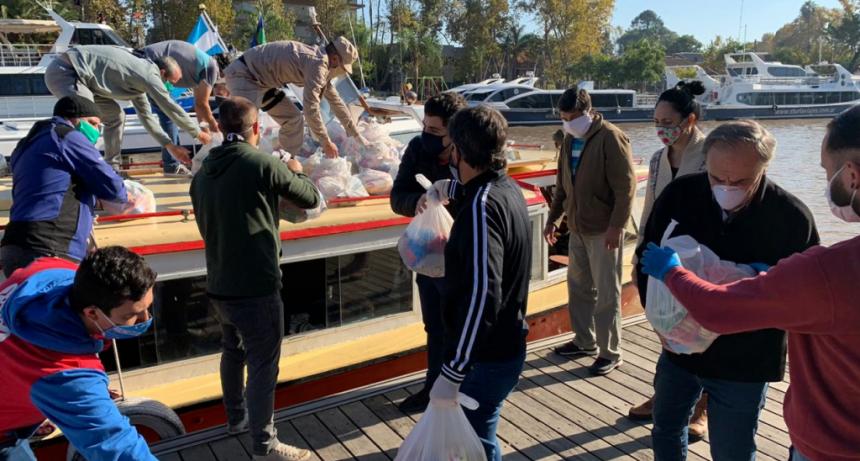 Tigre: Nueva entrega de productos del Servicio Alimentario Escolar para el Delta
