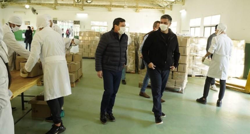 Jorge Macri y Daniel Arroyo visitaron el Centro Logístico de Asistencia Alimentaria