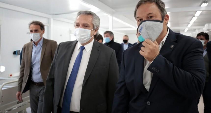 Alberto Fernández, Axel y Cascallares inauguraron un nuevo hospital para Alte Brown