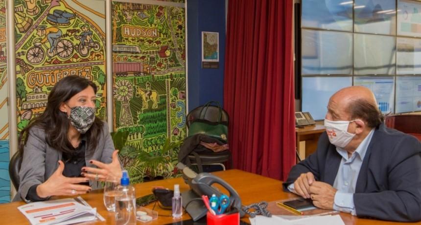 Berazategui: Mussi recibió a la secretaria de Comercio, Paula Español