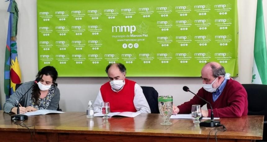 Marcos Paz: Mario Cafiero (INAES), firmó el primer acuerdo con un municipio
