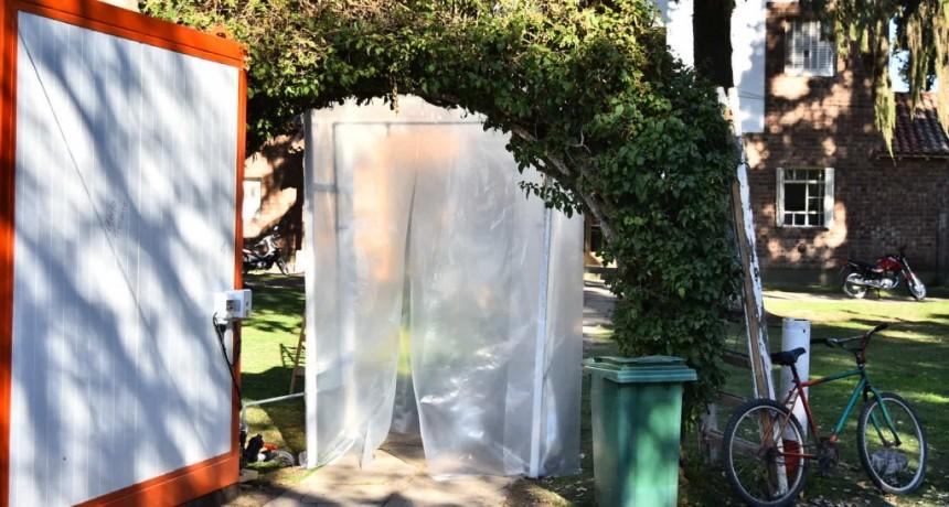 Baradero: Instalan tres carpas sanitizadoras en puntos claves del distrito