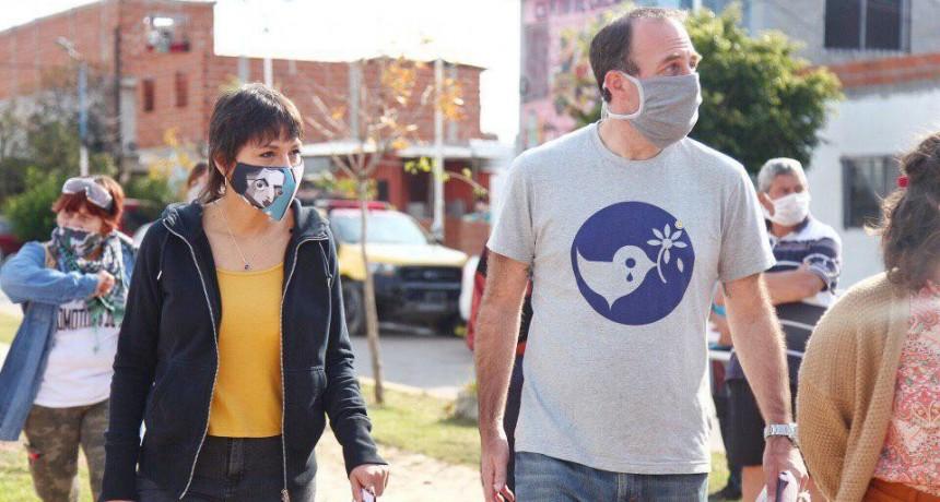 Quilmes: Mayra Mendoza encabezó un nuevo operativo de detección de casos de coronavirus en los barrios