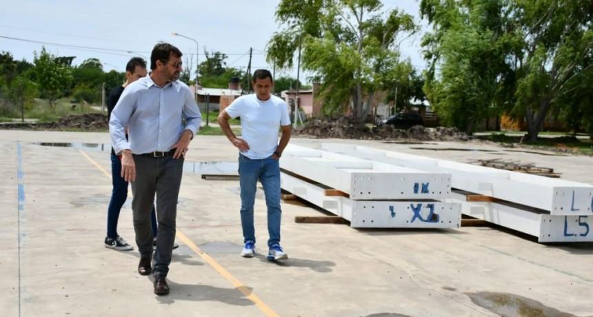Magdalena: Avanza la construcción del nuevo gimnasio deportivo
