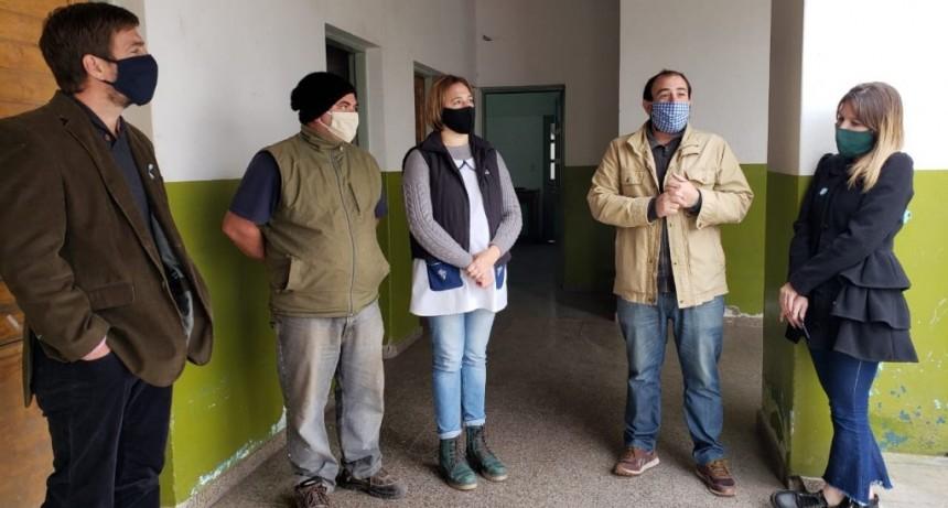 Mercedes: Avanzan las obras provinciales de infraestructura en el Centro Educativo Complementario