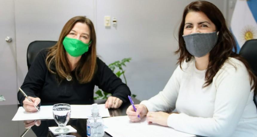 Moreno: Mariel Fernández firmó un convenio con la Ministra Estela Diaz