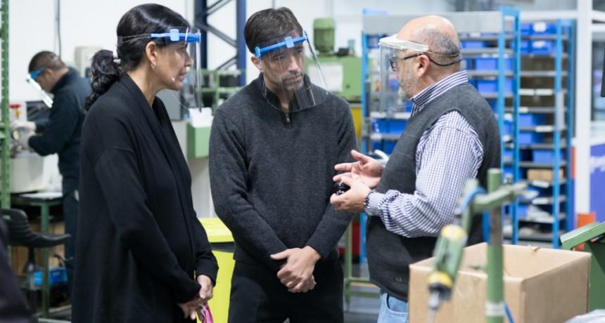 Los Toldos: El intendente Flexas visitó la autopartista Vernet que reinició la producción
