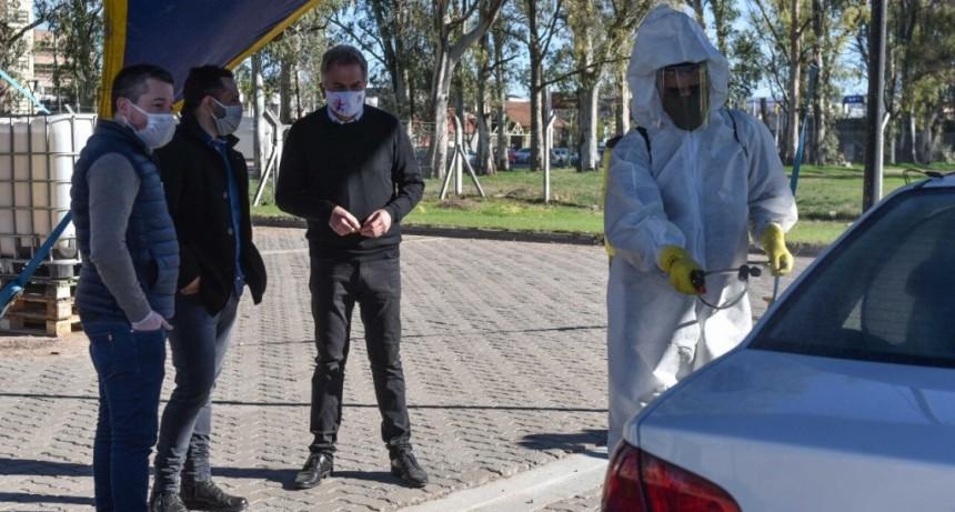 Bahía Blanca: El Municipio instaló puestos de sanitización de taxis y remises