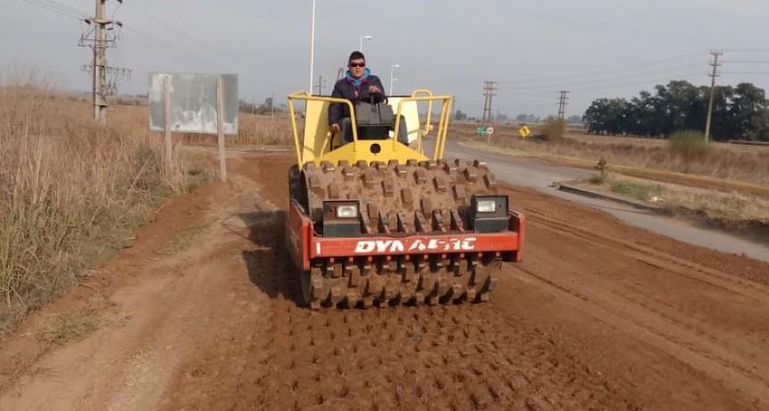 Colón: El Municipio realizo trabajos de reparación en la Ruta Provincial 50