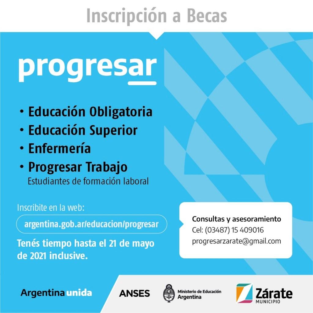 Zárate: El Municipio informa sobre una prórroga hasta el 21 de mayo para acceder a las becas