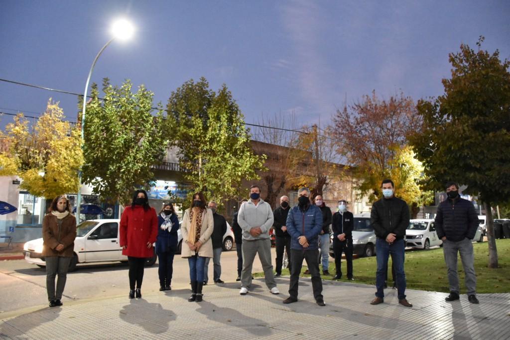 Chivilcoy: Se presentó la finalización de la obra de colocación de las luminarias LED