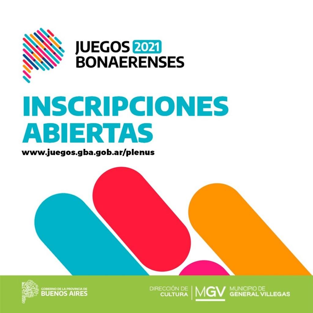 Gral. Villegas: Inscripción Juegos Bonaerenses 2021