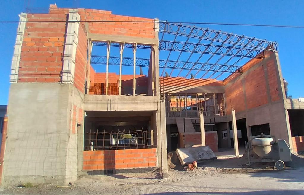 Patagones: Avanza a buen ritmo la obra del Centro Cívico de Stroeder