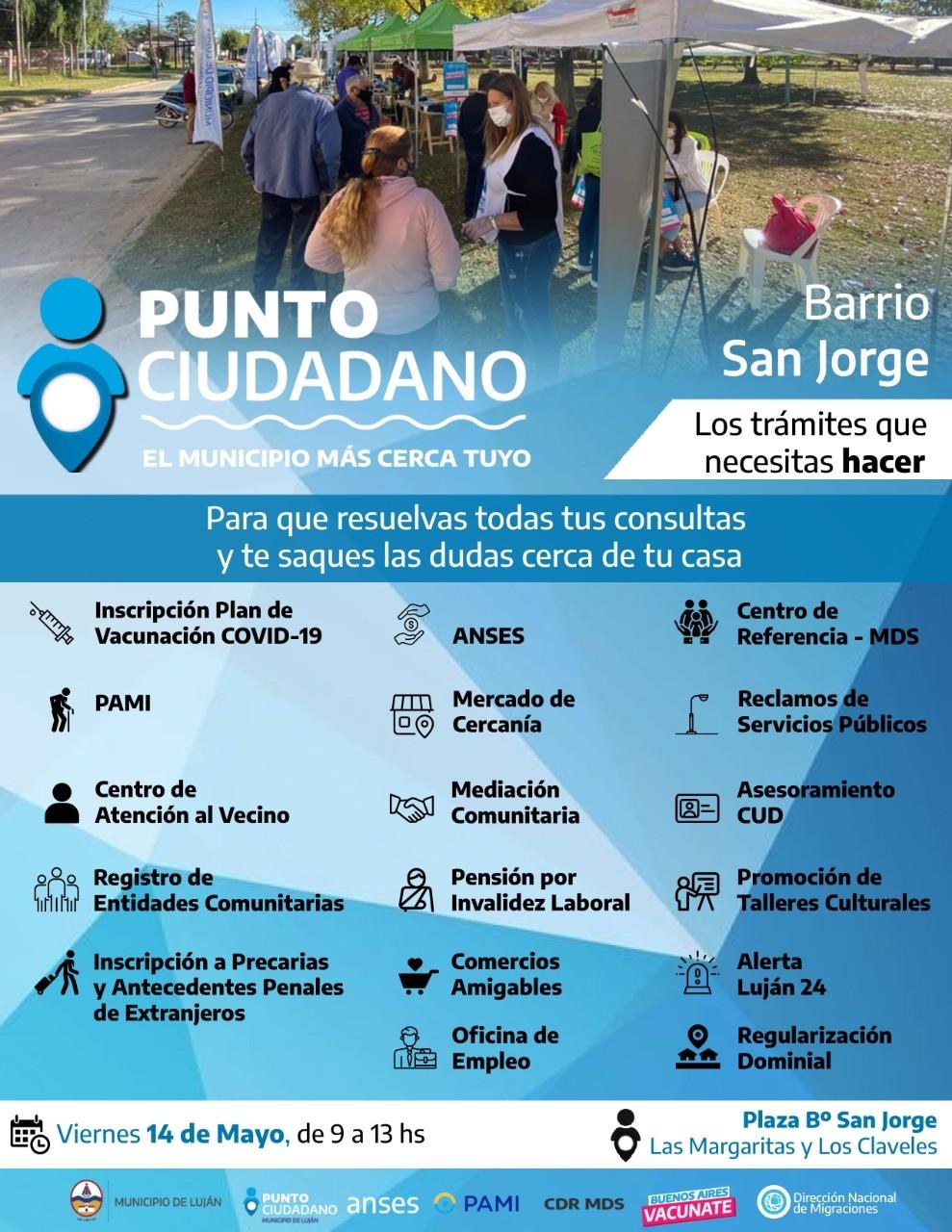 Luján: Punto Ciudadano y Mercado de Cercanía llegan al barrio San Jorge