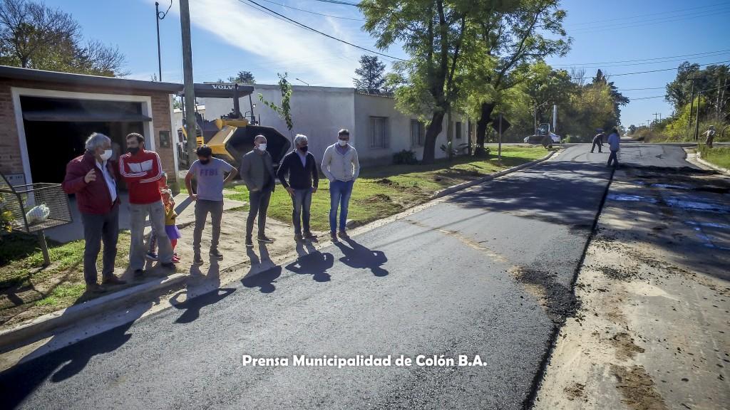 Colón (BA): Pavimentación del Barrio Mangrullo